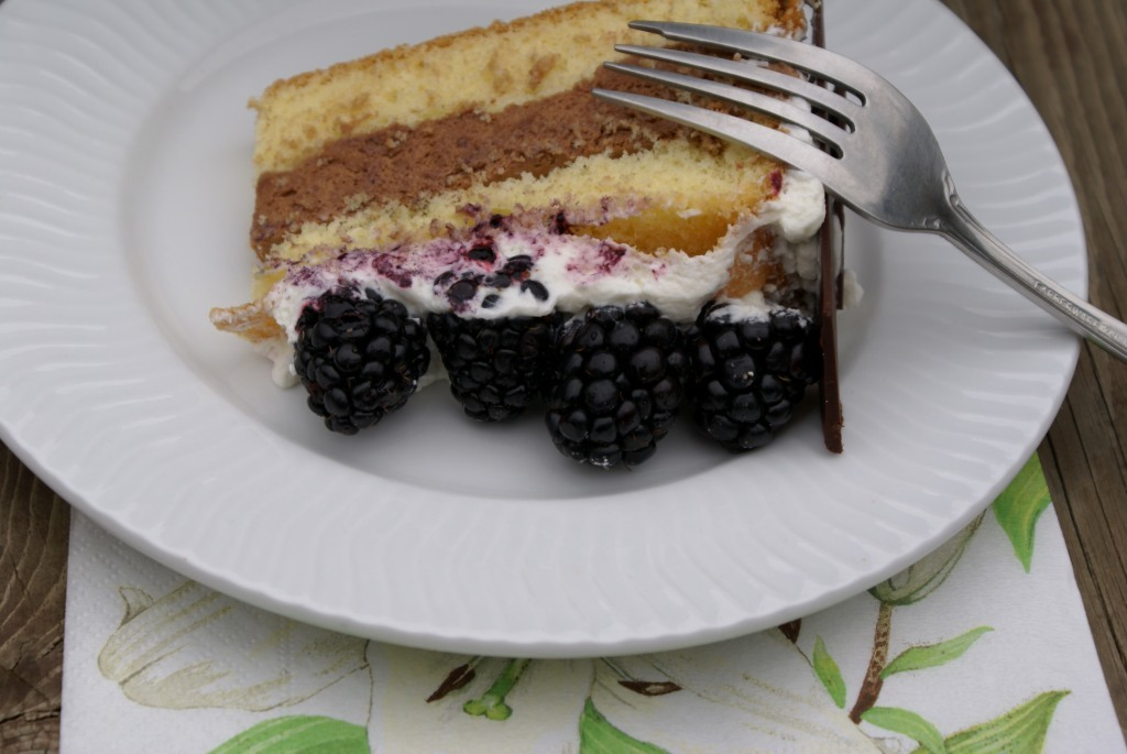 Chocolate Mousse-Blackberry Birthday Cake |