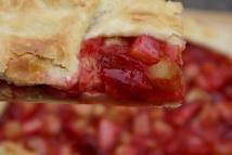 Strawberry-rhubarb galette
