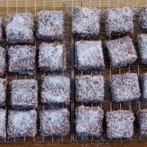 Choco-Coconut squares (Lamingtons)