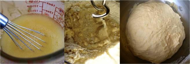 Making challah dough
