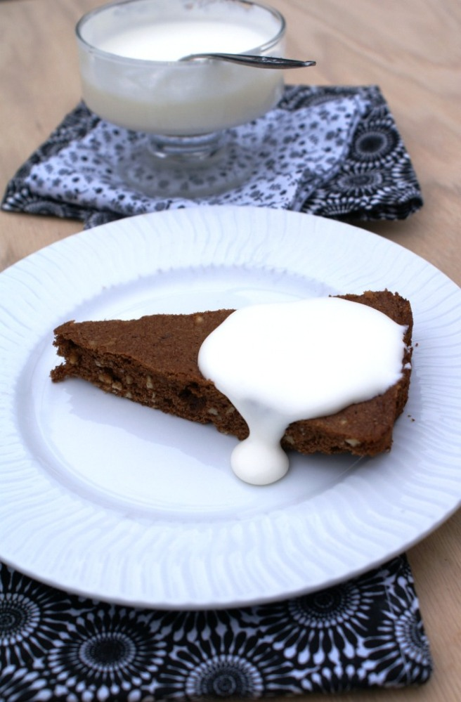 chocolate cake with hazelnuts