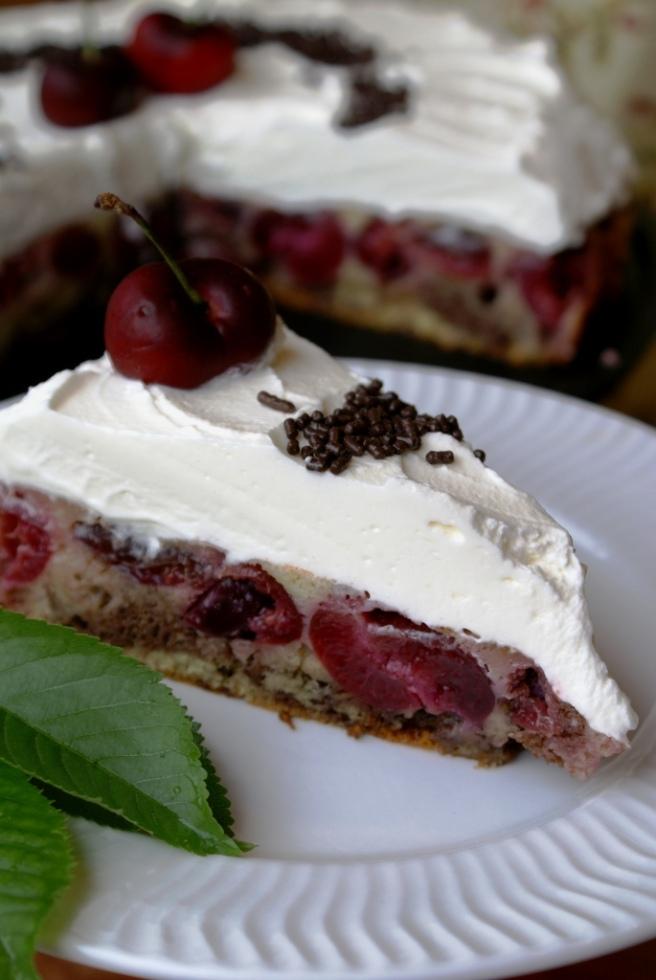 Cherry upside down cake