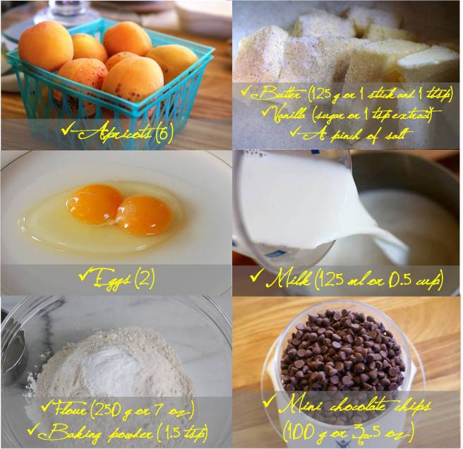 Ingredients apricot muffins
