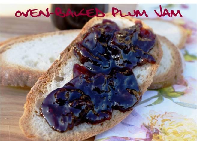 oven baked plum jam