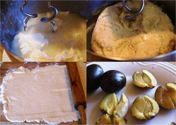German plum cake preparation
